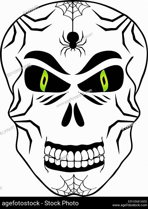 Sugar Skull Day of the Dead and Halloween