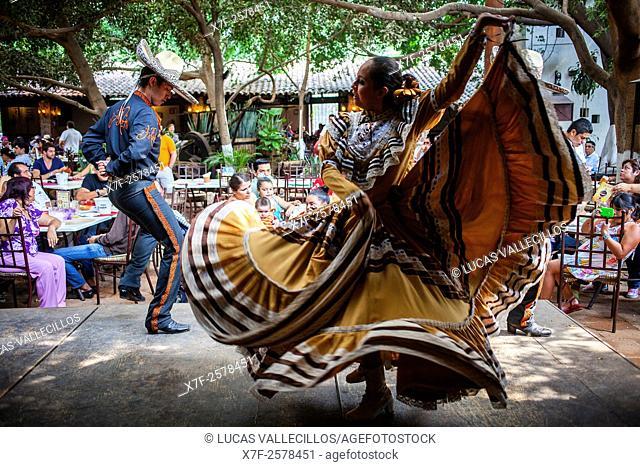 Traditional show, in El Abajeño restaurant, Juarez 131, Tlaquepaque, Guadalajara, Jalisco, Mexico