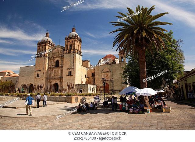 View to the Santo Domingo Church in the historic center, Oaxaca, Oaxaca State, Mexico, North America