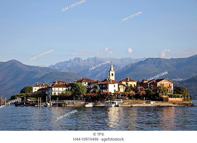 Europe, Italy, Piedmont, Piemonte, Lake Maggiore, Lago Maggiore, Stresa, Isola Superiore, Isola Pescatore, Alps, Tourism, Travel, Holiday, Vacation
