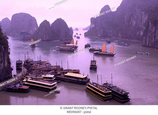Junk Boats, Halong Bay, Vietnam