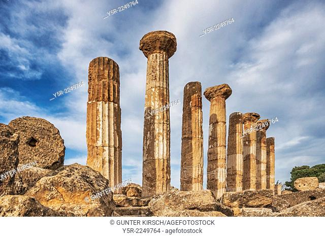 The Temple of Hercules, Tempio di Ercole, was built 500 BC. The temple belongs to the archaeological sites of Agrigento. The city of Akragas was built on a high...