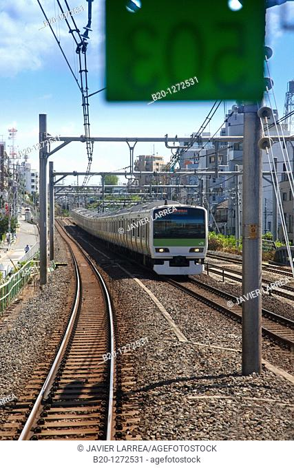 Railway train, Tokyo, Japan