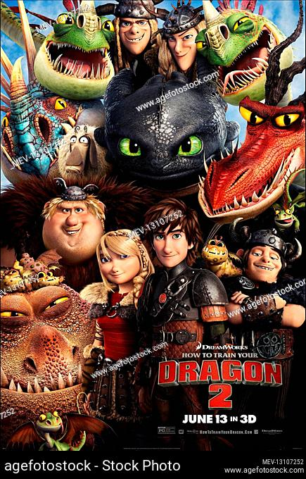 Toothless, Astrid & Hiccup Poster Film: How To Train Your Dragon 2 (USA 2014) Director: Dean Deblois 16 May 2014
