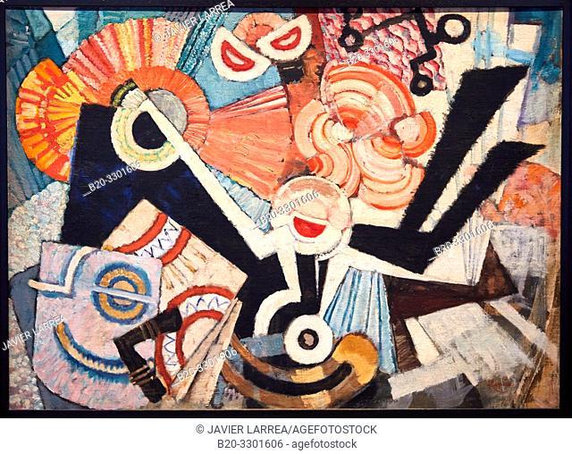 """Syncopated Backing (Staccato)"", 1928-1930, Frantisek Kupka, Thyssen Bornemisza Museum, Madrid, Spain, Europe"