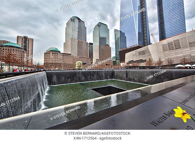 National September 11 Memorial at the World Trade Center site, Manhattan, New York City, United States of America