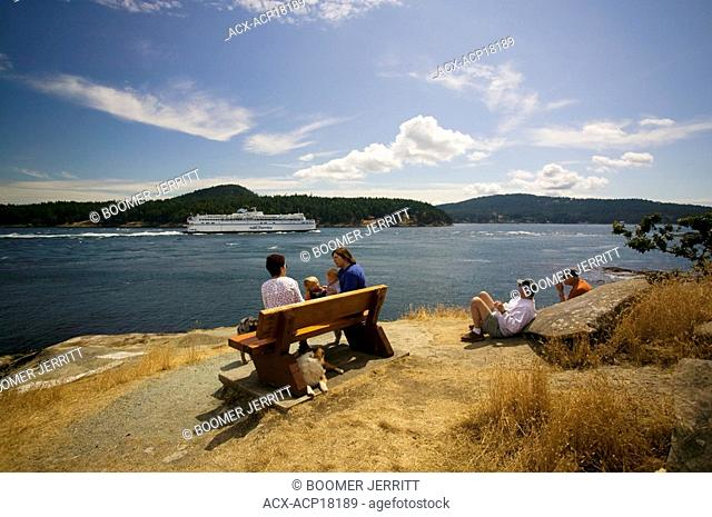 Active Pass lives up to its namesake with a steady flow of boat traffic including the large BC Ferry vessels, Galiano Island, Gulf Islands, British Columbia