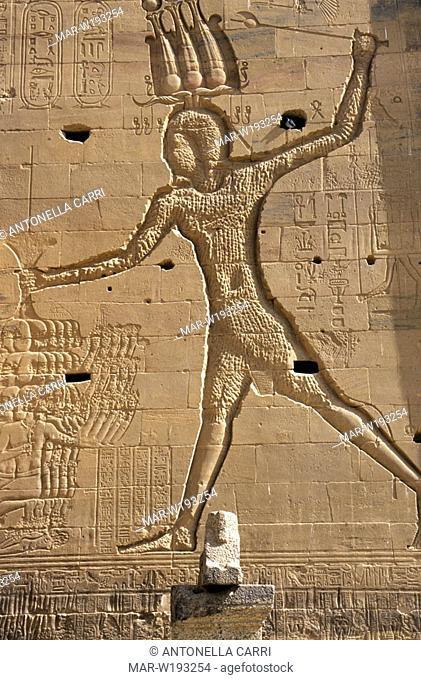 egypt, assuan, philae island, temple of isis