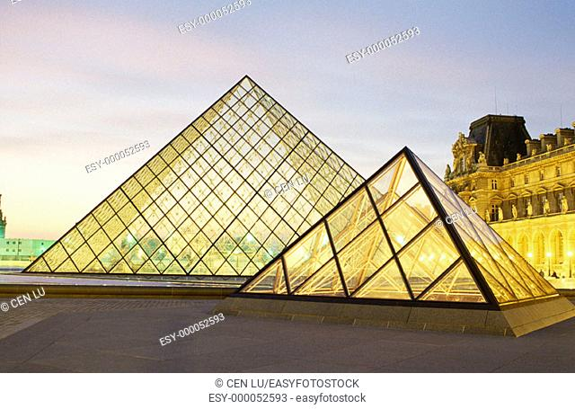 Exterior of Louvre Museum. Paris. France