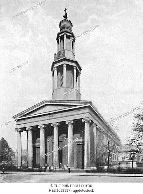 'St. Pancras Church', 1904. St Pancras Church is a Greek Revival church in St Pancras, London, built in 1819-22 to the designs of William and Henry William...
