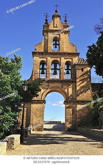Bell tower, Church of Nuestra Señora del Mayor Dolor, XVth century.Aracena, Huelva province, Spain