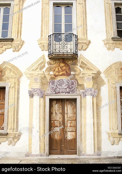 Miasino, Novara, Piedmont, Italy, Europe. Villa Nigra (16th-18th century). .