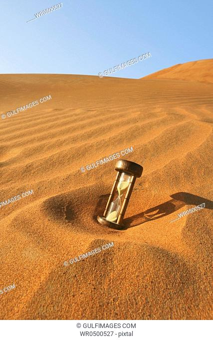 Traditional hour glass in the desert