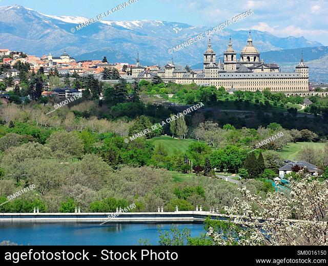 Royal Monastery of San Lorenzo de El Escorial and El Batán water reservoir