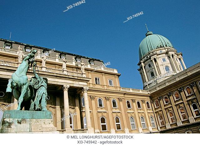 Castle and Palace complex, Saint George's Square outer courtyard, Castle Hill District, Budapest, Hungary
