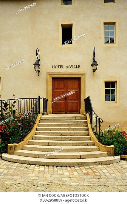 Town Hall entrance, Charolles, Saône-et-Loire department, Bourgogne, France