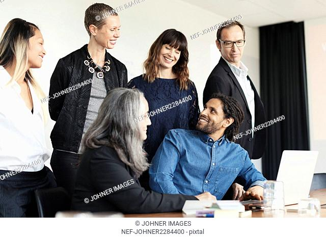People at business meeting