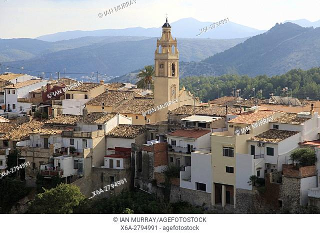 Village of Campell, Vall de Laguar, Marina Alta, Alicante province, Spain