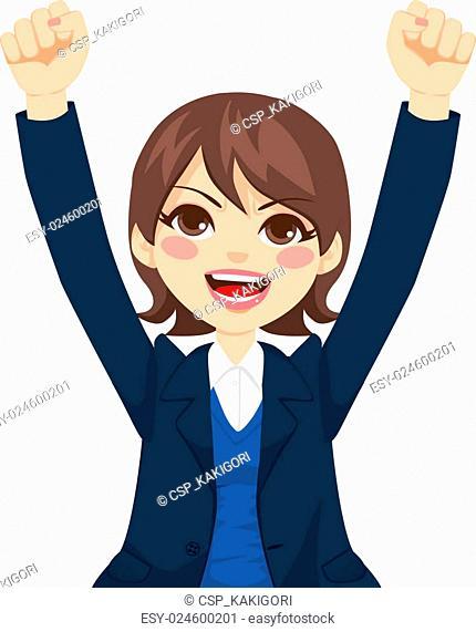 Happy Successful Businesswoman