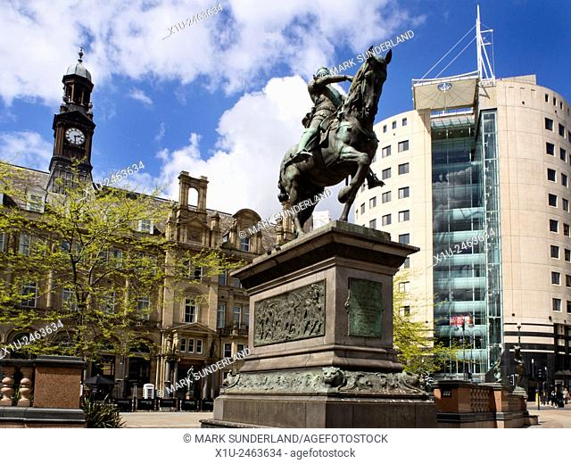 The Black Price Statue in City Square Leeds West Yorkshire England