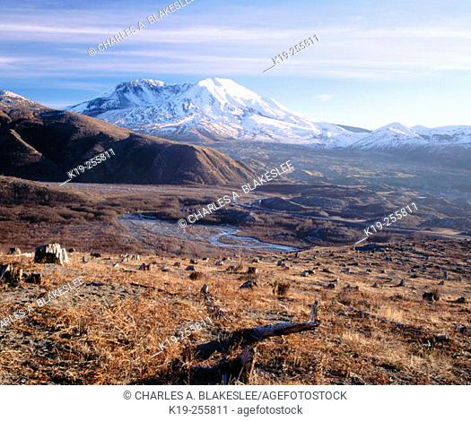 Mount Saint Helens. North side. Mount St. Helens National Volcanic Monument. Washington. USA