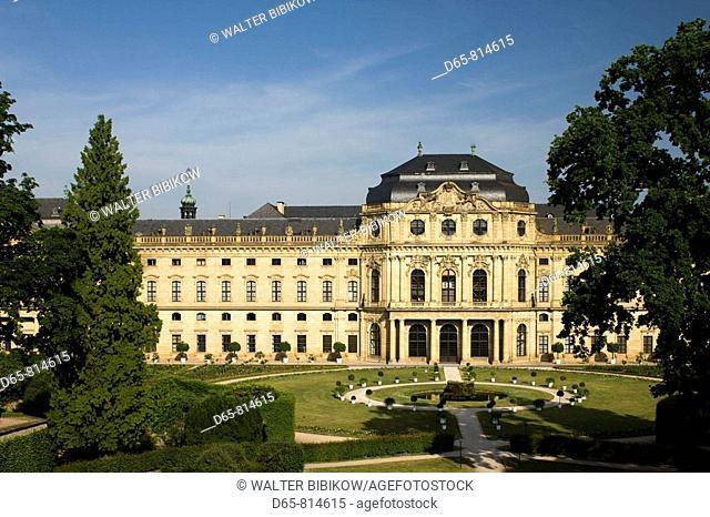 Residenz Palace, east view, Wurzburg, Bavaria, Germany