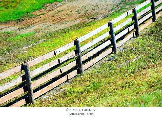Diagonal farm wooden fence background hd