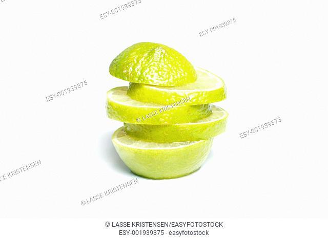 A sliced lime