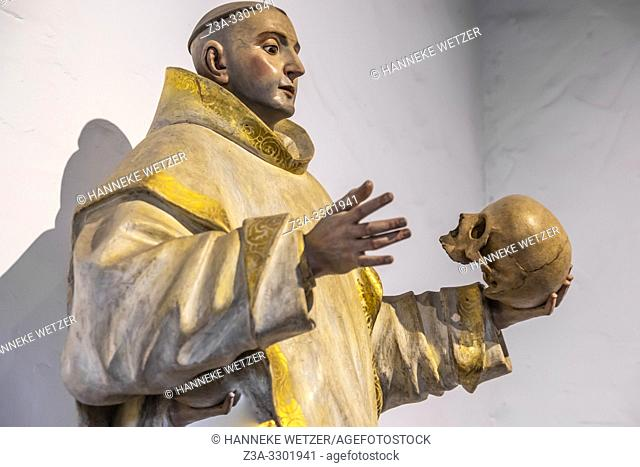 Statue of Saint Bruno in the Diocesan Museum of Sacred Art, Cathedral of Santa Ana, Canary Islands