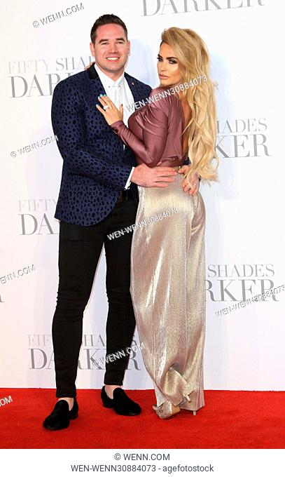 Fifty Shades Darker ?U?K ?Premiere? at the ?Odeon Leicester Square, London Featuring: Katie Price, Kieran Hayler Where: London