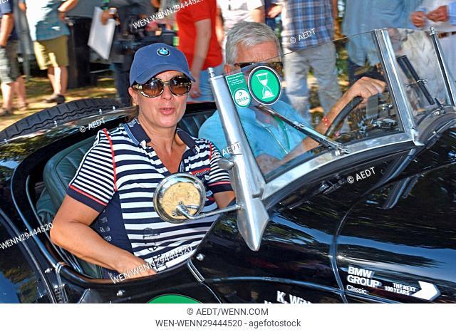 Hamburg Berlin Klassik Oldtimer Rallye meets 24 Tours du Pont. Featuring: Katarina Witt Where: Potsdam, Germany When: 27 Aug 2016 Credit: AEDT/WENN