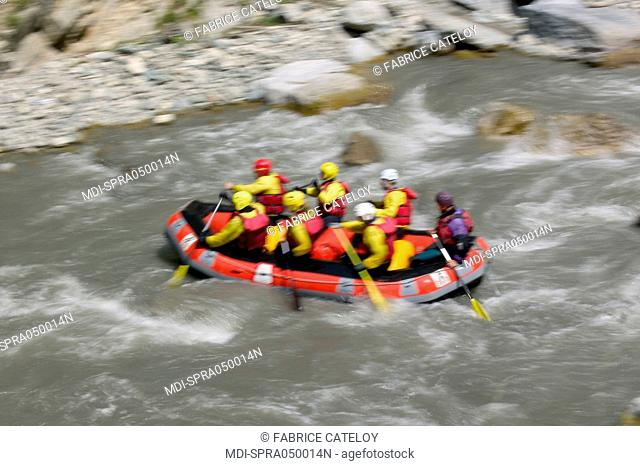Rafting in June in the gorges of the Guil - Hautes Alpes - France