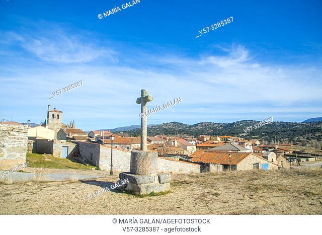 Overview. Bonilla de la Sierra, Avila province, Castilla Leon, Spain