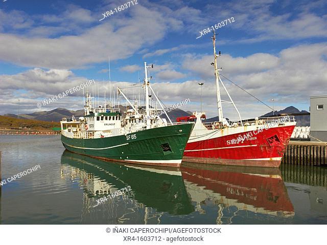 Fishing port of Hofn, Hofn, Iceland