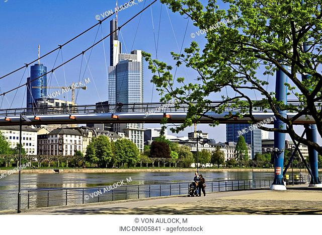 Germany, Hesse, Frankfurt, office buildings