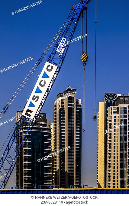 Construction site at Jumeirah Beach Residence, Dubai, UAE