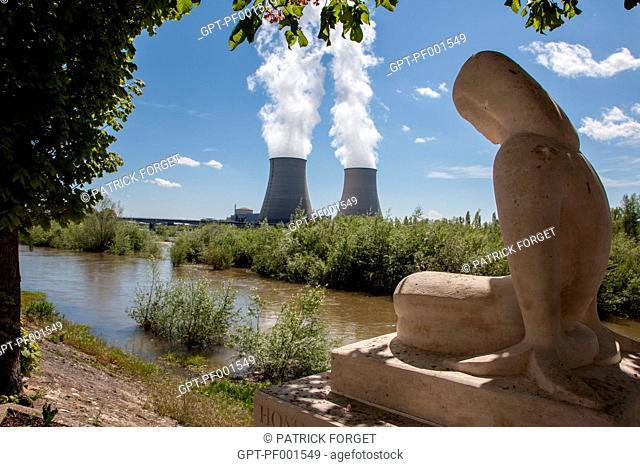 NUCLEAR POWER PLANT IN BELLEVILLE-SUR-LOIRE CHER SEEN FROM NEUVY-SUR-LOIRE NIEVRE, FRANCE
