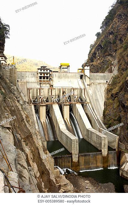 Tala hydropower project dam ; Chukha valley ; Bhutan