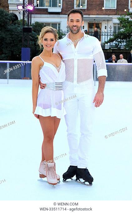 Dancing On Ice 2018 photocall at the Natural History Museum Ice Rink Featuring: Stephanie Waring, Sylvain Longchambon Where: London