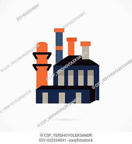 Waste recycling flat vector icon