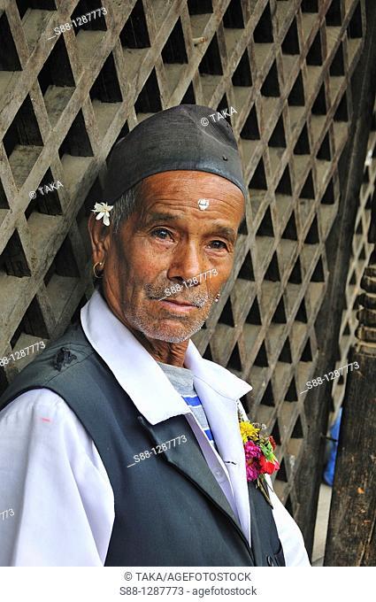 Thase man standing at Durbar Square