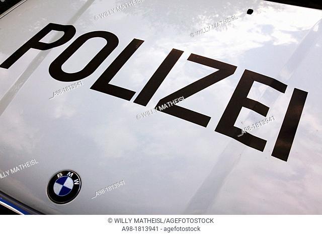 hood of an BMW German police car, Germany, Europe