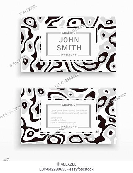 Business card templates with abstract pattern