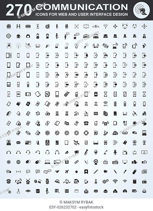 Communication icons for web and user interface