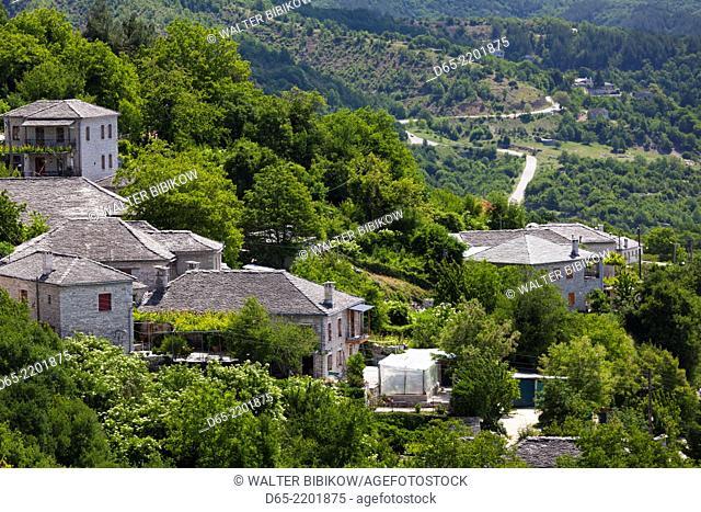Greece, Epirus Region, Zagorohoria Area, Vikos Gorge, village of Monodendri