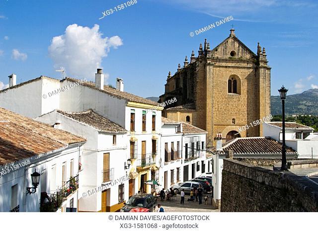 Santa Maria Mayor church and streets, Ronda, Andalucia, Spain