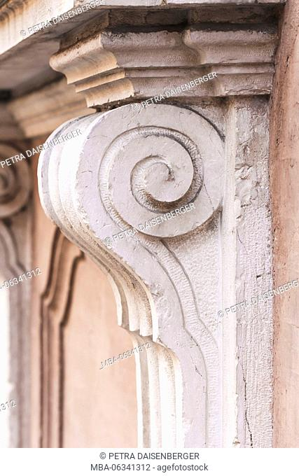 Baroque architecture details in Bologna - stucco