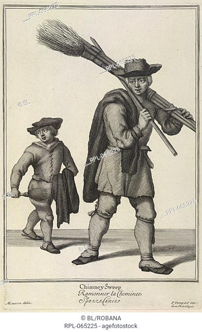 Two chimney sweeps. Image taken from The Cryes of the City of London Drawne after the Life. Les cris de la ville de Londres L:arti co:muni che uanno : Londra