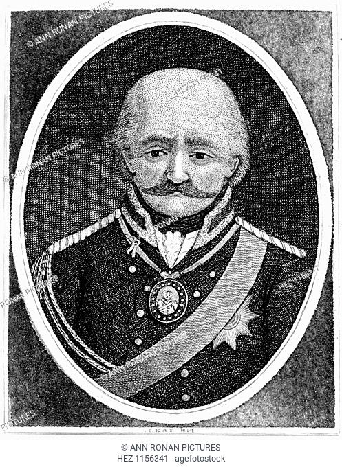 Gebhard Leberecht von Blucher, Prussian general, 1814. The intervention of Blucher's (1742-1819) Prussian army made a vital contribution to Wellington's victory...
