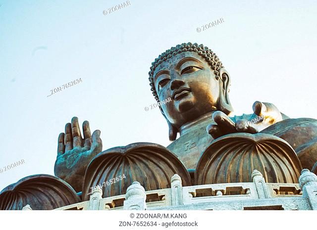 tian tan big buddha in lantau island of Hong Kong